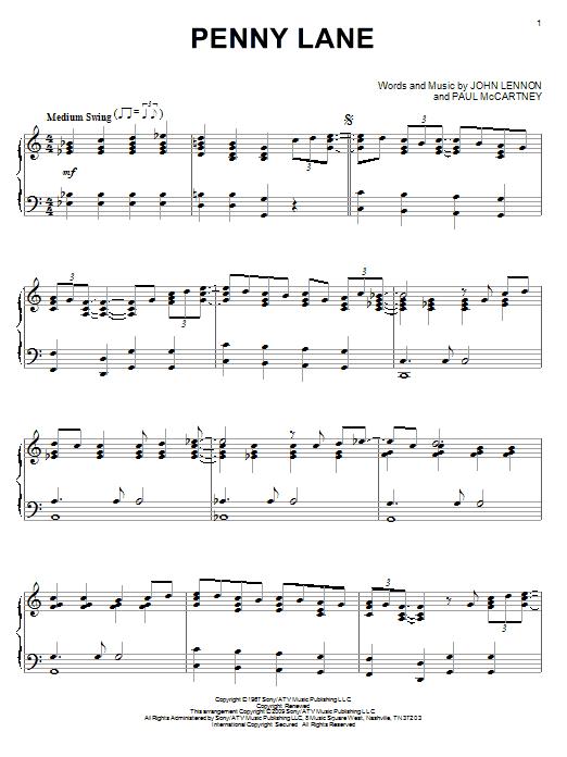 Penny Lane (Piano Solo)