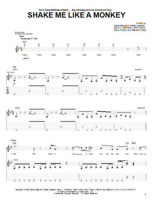 Shake Me Like A Monkey Sheet Music