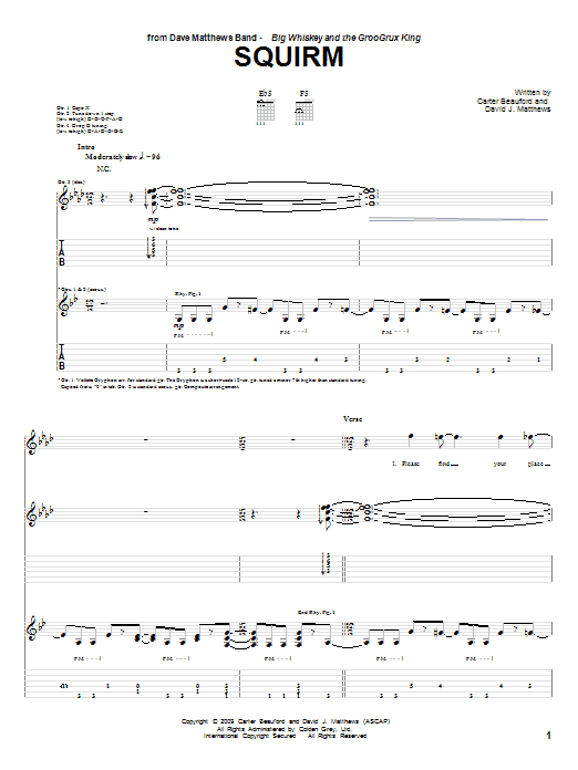 Squirm Sheet Music