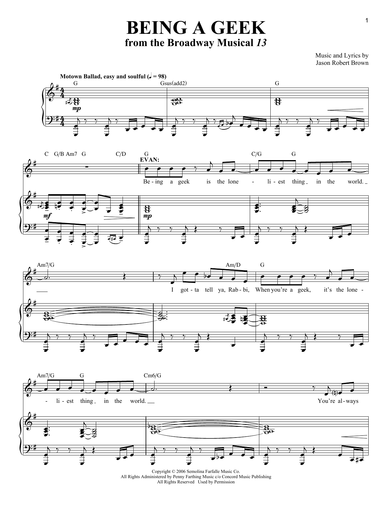Being A Geek Sheet Music