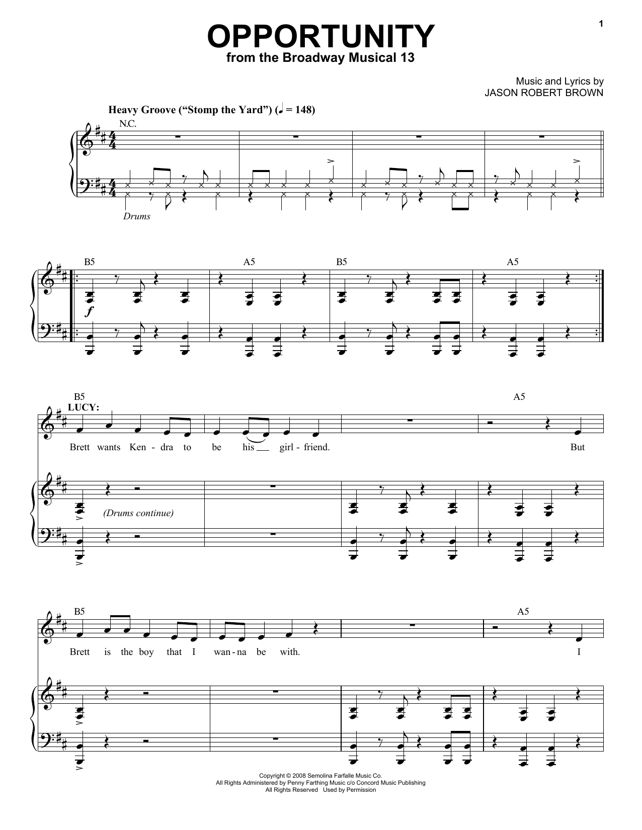 Opportunity Sheet Music