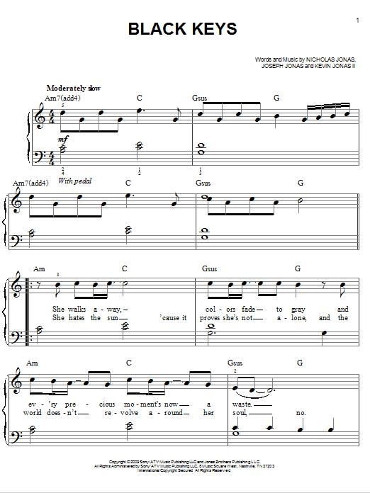 Black Keys (Easy Piano)