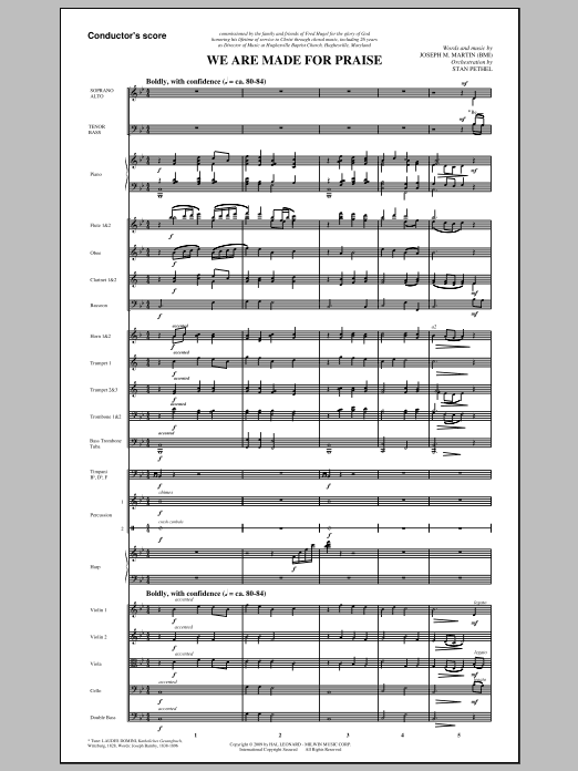 We Are Made For Praise (COMPLETE) sheet music for orchestra/band (Orchestra) by Joseph M. Martin and Stan Pethel. Score Image Preview.