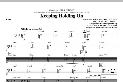 Keep Holding On - Bass (Choir Instrumental Pak)