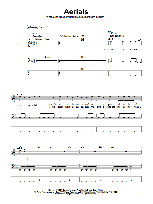 Aerials Sheet Music