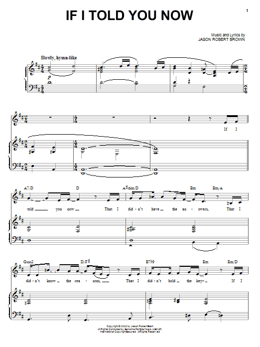 If I Told You Now Sheet Music
