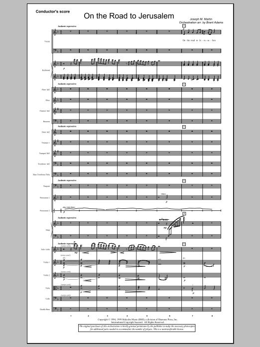 On The Road To Jerusalem - Full Score (Choir Instrumental Pak)