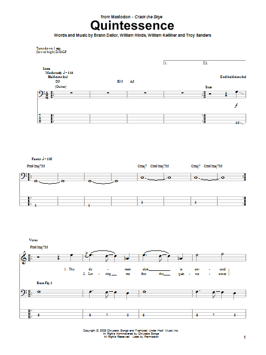 Quintessence Sheet Music