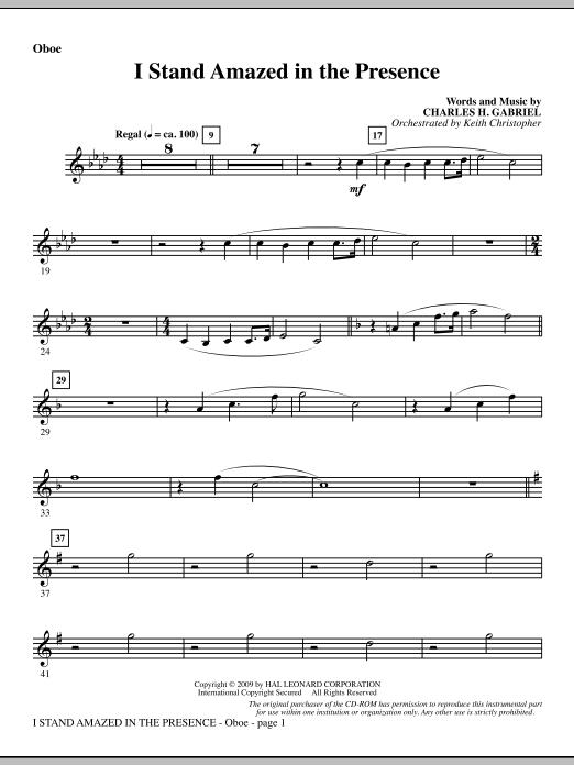 I Stand Amazed In The Presence - Oboe (Choir Instrumental Pak)