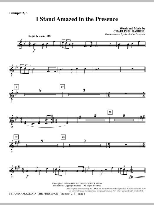 I Stand Amazed In The Presence - Bb Trumpet 2,3 (Choir Instrumental Pak)