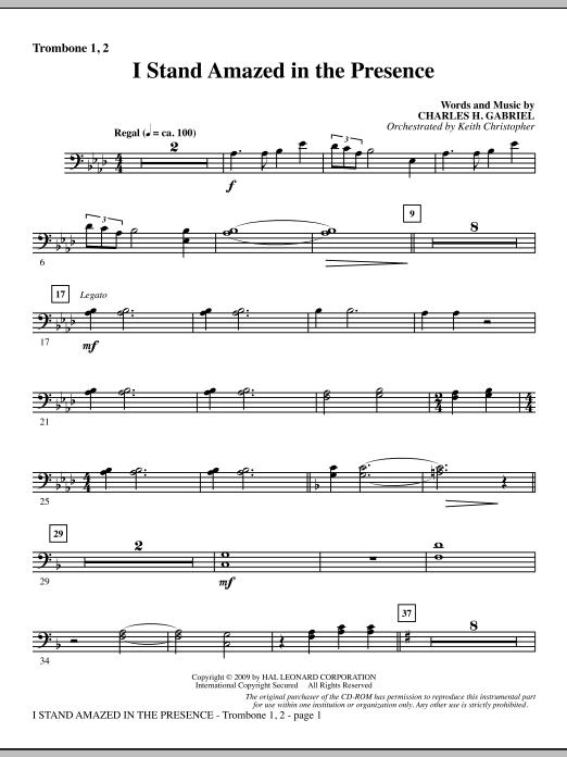 I Stand Amazed In The Presence - Trombone 1 & 2 (Choir Instrumental Pak)