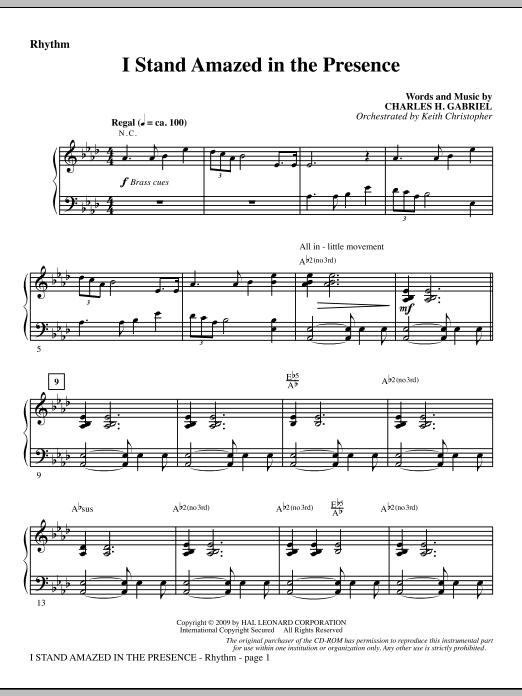 I Stand Amazed In The Presence - Rhythm (Choir Instrumental Pak)