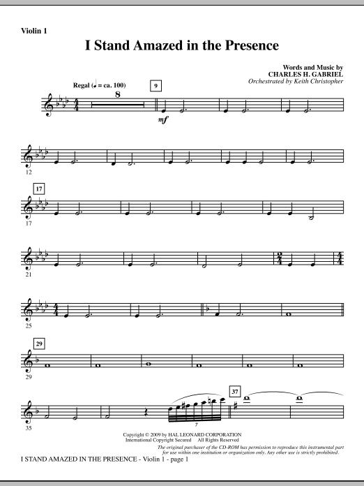 I Stand Amazed In The Presence - Violin 1 (Choir Instrumental Pak)