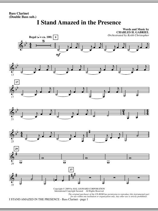I Stand Amazed In The Presence - Bass Clarinet (sub. dbl bass) (Choir Instrumental Pak)