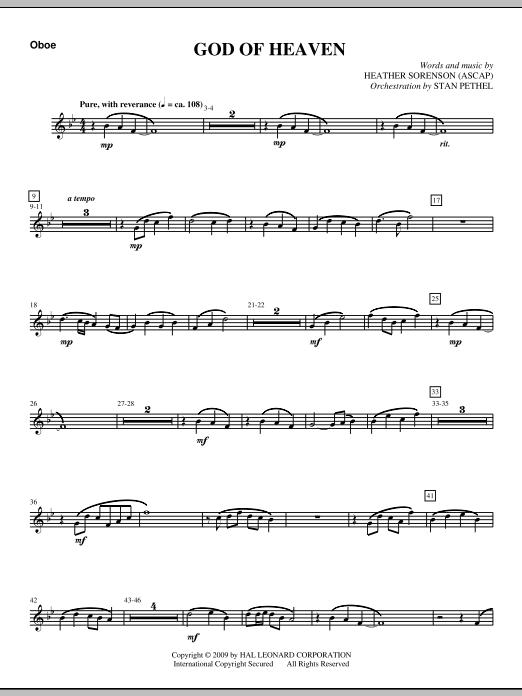 God Of Heaven - Oboe (Choir Instrumental Pak)