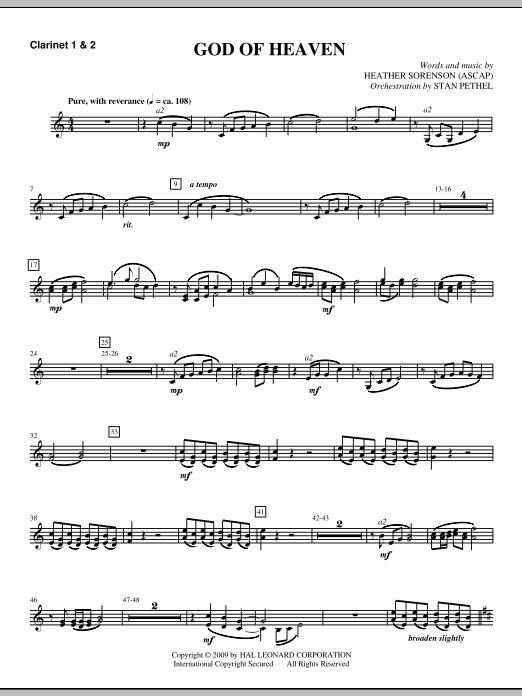 God Of Heaven - Bb Clarinet 1,2 (Choir Instrumental Pak)