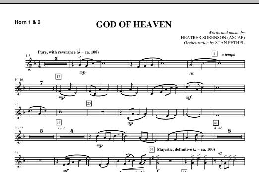 God Of Heaven - F Horn 1,2 (Choir Instrumental Pak)