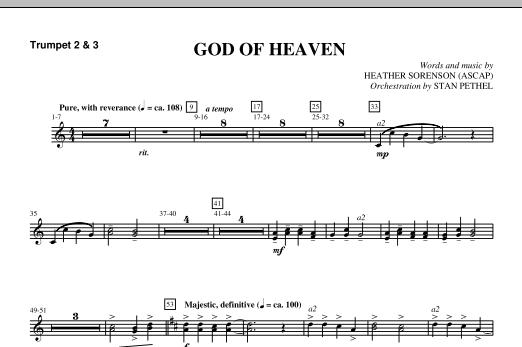 God Of Heaven - Bb Trumpet 2,3 (Choir Instrumental Pak)