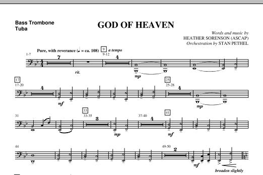 God Of Heaven - Bass Trombone/Tuba (Choir Instrumental Pak)