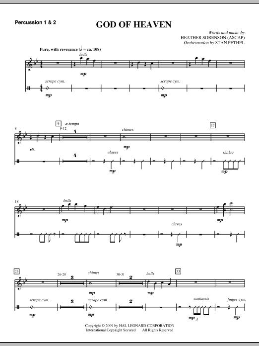 God Of Heaven - Percussion 1 & 2 (Choir Instrumental Pak)