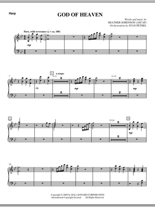 God Of Heaven - Harp (Choir Instrumental Pak)