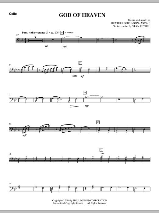 God Of Heaven - Cello (Choir Instrumental Pak)
