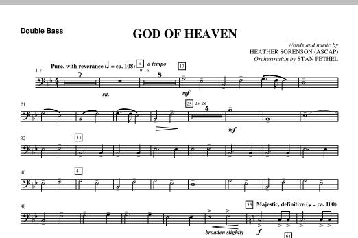 God Of Heaven - Double Bass (Choir Instrumental Pak)