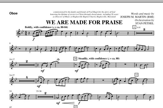 We Are Made For Praise - Oboe (Choir Instrumental Pak)