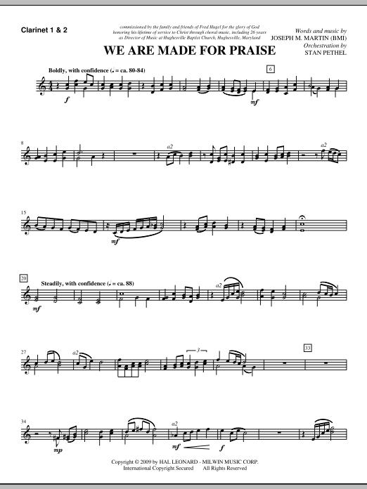 We Are Made For Praise - Bb Clarinet 1,2 (Choir Instrumental Pak)