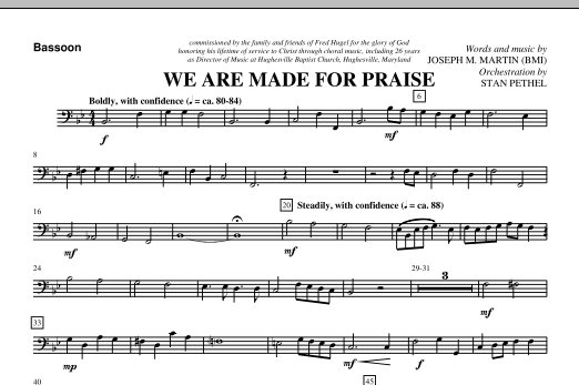 We Are Made For Praise - Bassoon (Choir Instrumental Pak)