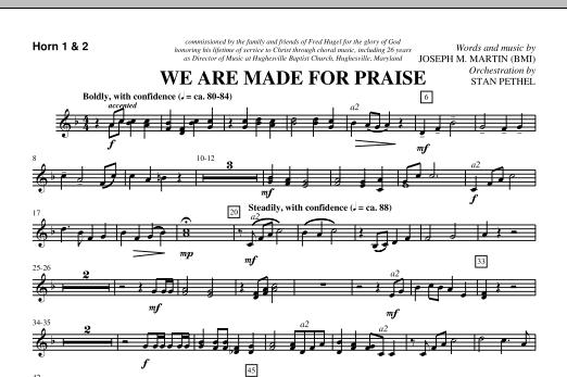 We Are Made For Praise - F Horn 1,2 (Choir Instrumental Pak)