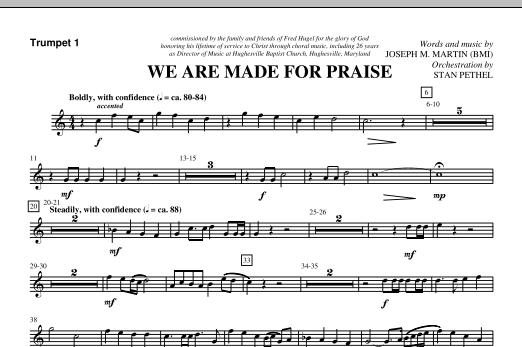 We Are Made For Praise - Bb Trumpet 1 (Choir Instrumental Pak)