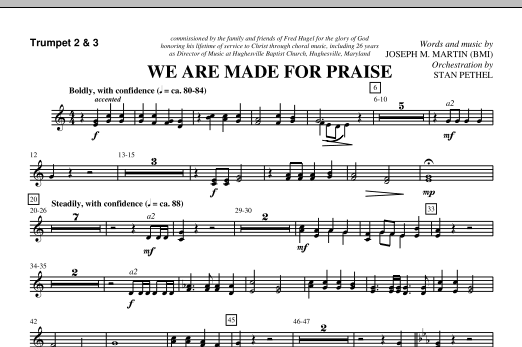 We Are Made For Praise - Bb Trumpet 2,3 (Choir Instrumental Pak)