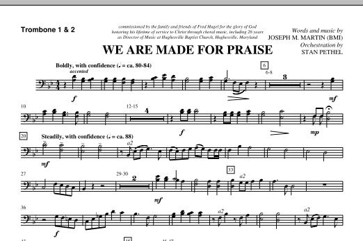We Are Made For Praise - Trombone 1 & 2 (Choir Instrumental Pak)