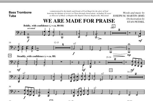 We Are Made For Praise - Bass Trombone/Tuba (Choir Instrumental Pak)