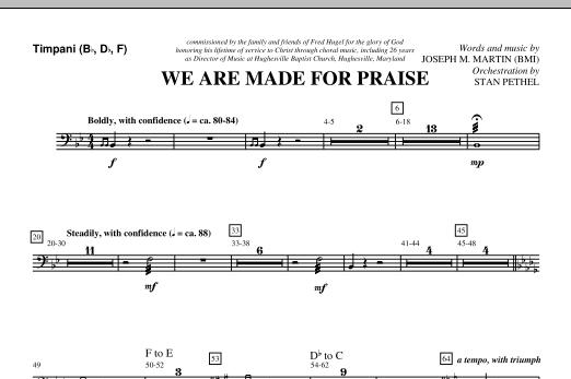 We Are Made For Praise - Timpani (Choir Instrumental Pak)