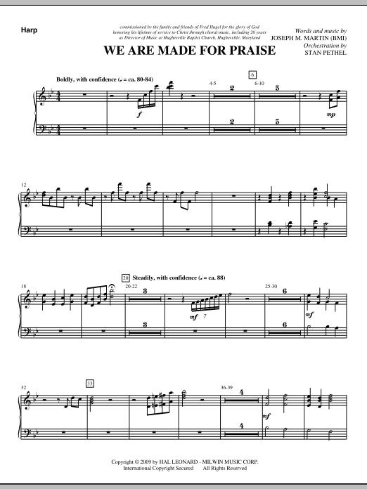 We Are Made For Praise - Harp (Choir Instrumental Pak)