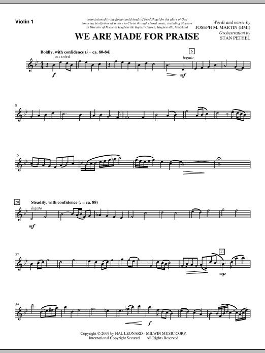 We Are Made For Praise - Violin 1 (Choir Instrumental Pak)