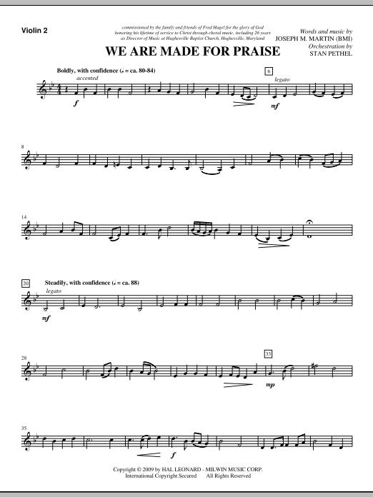 We Are Made For Praise - Violin 2 (Choir Instrumental Pak)
