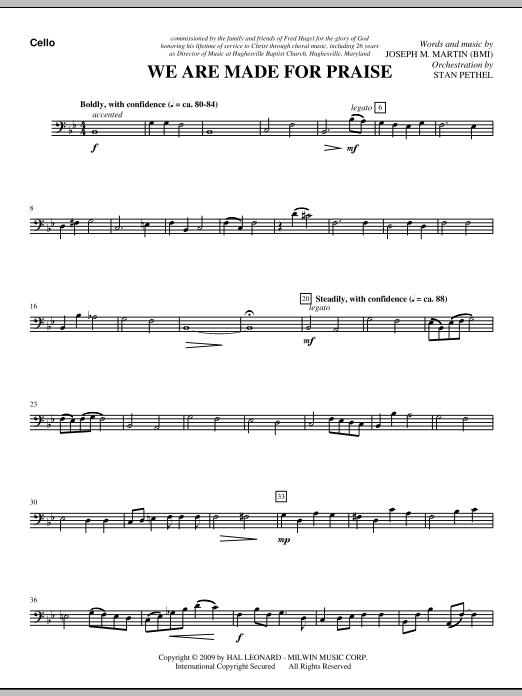 We Are Made For Praise - Cello (Choir Instrumental Pak)