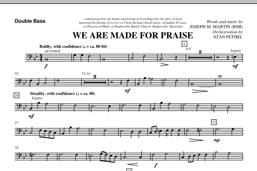 We Are Made For Praise - Double Bass (Choir Instrumental Pak)