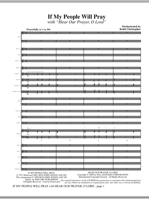 If My People Will Pray (with Hear Our Prayer, O Lord) - Full Score Sheet Music