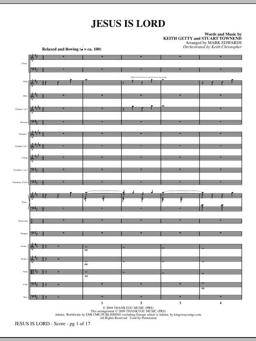 Jesus Is Lord - Full Score Sheet Music