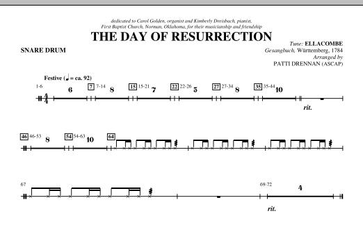 The Day Of Resurrection - Snare Drum (Choir Instrumental Pak)