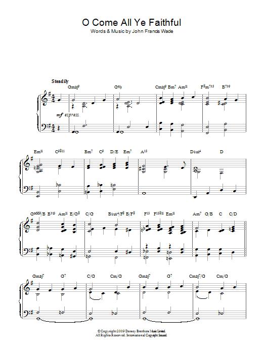 O Come All Ye Faithful (jazz version) Sheet Music | Christmas Carol ...