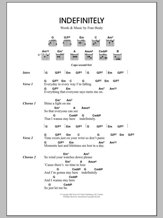 Indefinitely Sheet Music