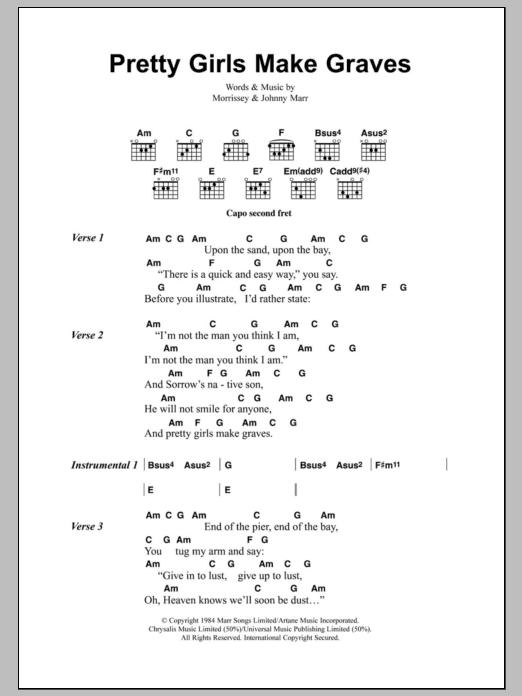 Pretty Girls Make Graves by The Smiths - Guitar Chords/Lyrics ...