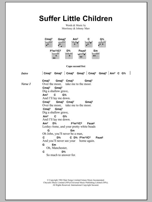 Suffer Little Children Sheet Music