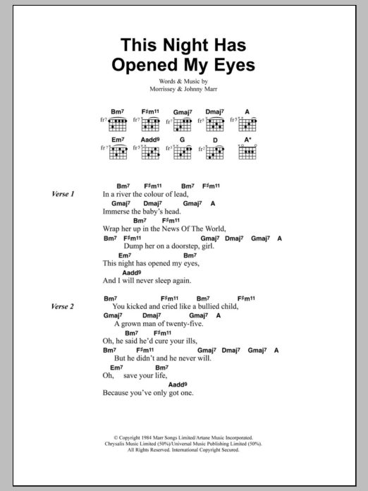 This Night Has Opened My Eyes Sheet Music Direct