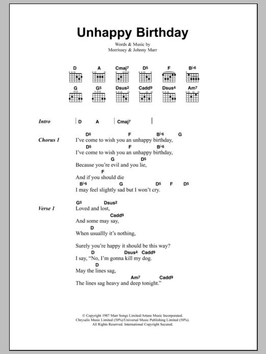 Unhappy Birthday Sheet Music